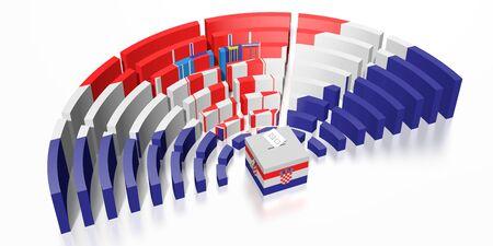Parliament election in Croatia - 3D rendering