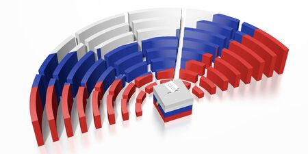 Parliament election in Russia - 3D rendering