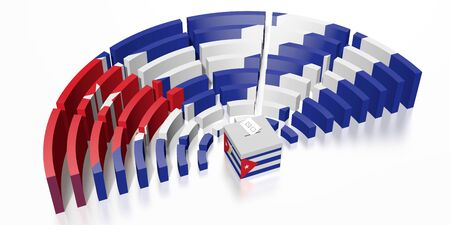 Parliament election in Cuba - 3D rendering 写真素材