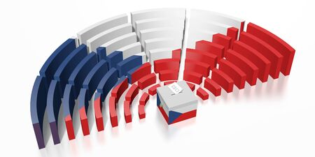 Parliament election in Czech Republic - 3D rendering