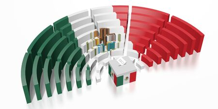 Parliament election in Mexico - 3D rendering