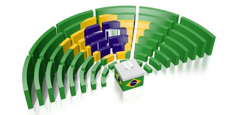 Parliament election in Brazil - 3D rendering