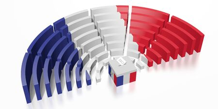 Parliament election in France - 3D rendering