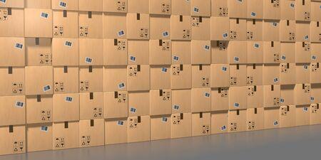 3D warehouse concept - 3D rendering Reklamní fotografie