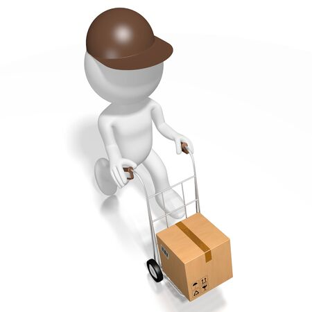Courier, package delivery concept - 3D rendering