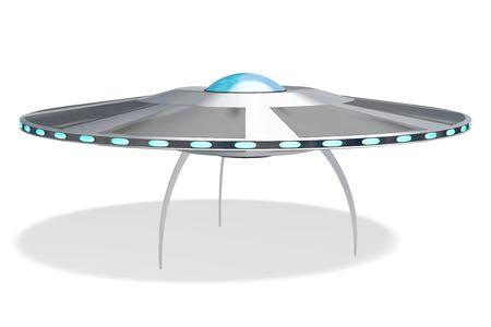 Flying saucer, UFO 3D rendering