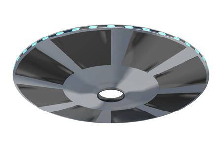Flying saucer or UFO 3D rendering