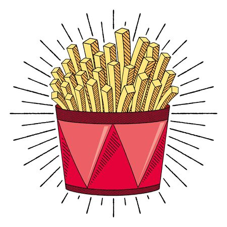 French fries/ chips - illustration/ clipart 写真素材 - 136456893