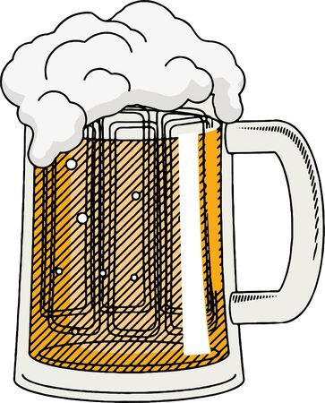 Pint of beer - illustration/ clipart 写真素材 - 136456894