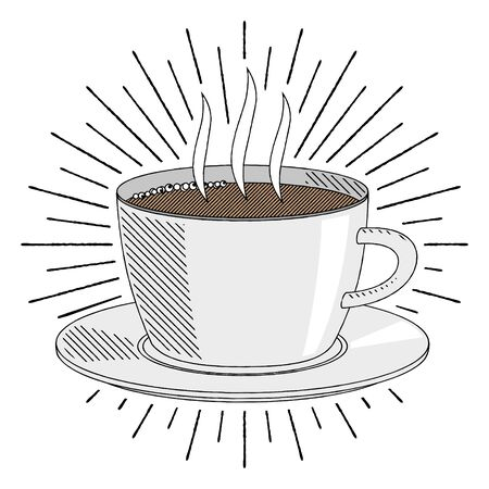 Coffee cup/ tea cup - illustration/ clipart 写真素材 - 136393651
