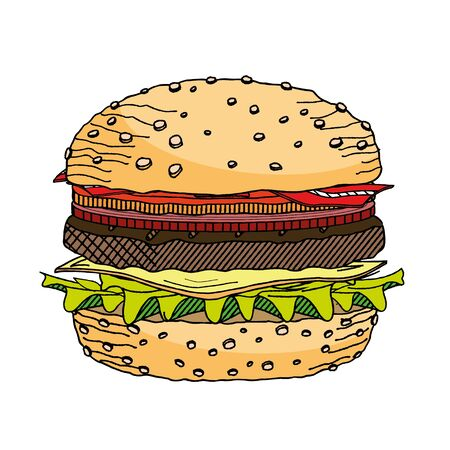 Hamburger Cheeseburger - illustration clipart Illusztráció