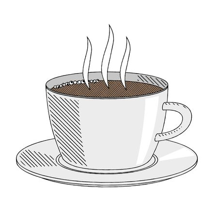 Coffee cup/ tea cup - illustration/ clipart 写真素材 - 136393695