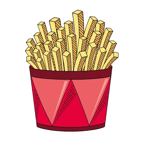 French fries chips - illustration clipart Illusztráció