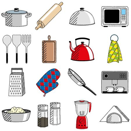 Kitchen utensils (set) - cliparts/ illustrations 写真素材 - 136429783
