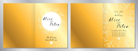 Wedding invitation template - 2 x A5 size (148x210mm)