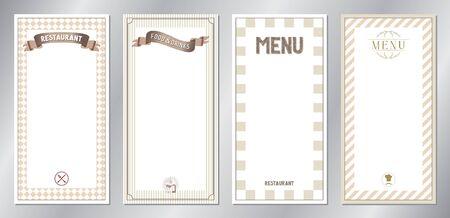 Brown classic, retro, vintage restaurant menu templates - 20x40 cm 写真素材 - 137673124