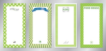 Green classic, retro, vintage restaurant menu templates - 20x40 cm 写真素材 - 137673146