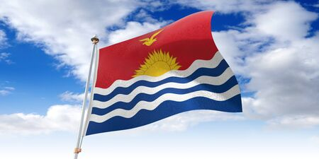 Kiribati - waving flag - 3D illustration