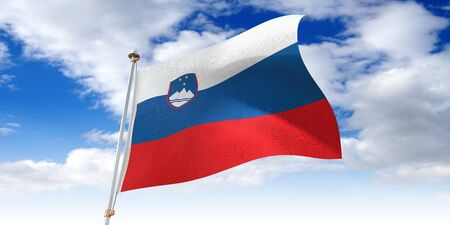 Slovenia - waving flag - 3D illustration
