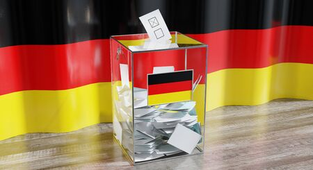 Germany - ballot box - voting, election concept - 3D illustration