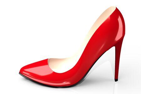 Roter High Heel Schuh - 3D-Darstellung