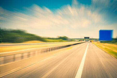 Driving on a highway Stockfoto - 146409462