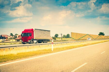 Truck on a highway Stockfoto - 146409152