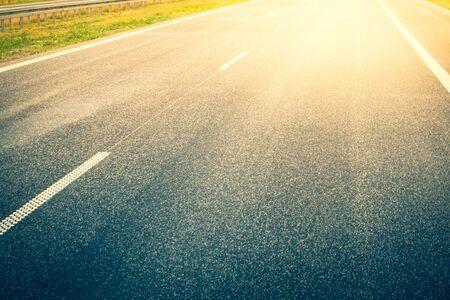 Empty highway - close-up