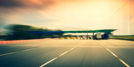 Highway toll gate Stockfoto
