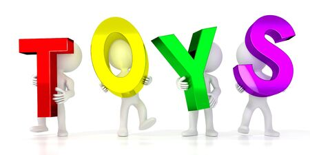Toys - colorful letters - 3D illustration Stockfoto