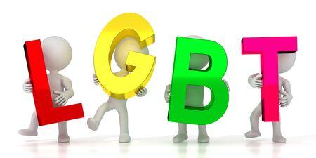 LGBT - colorful letters - 3D illustration