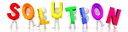 Solution - colorful letters - 3D illustration