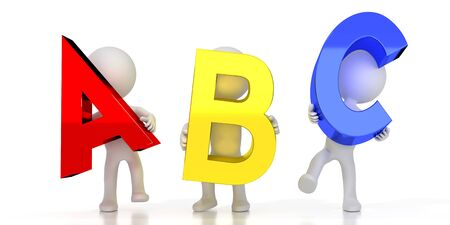 ABC - colorful letters - 3D illustration