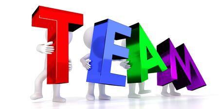 Team - colorful letters - 3D illustration
