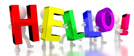 Hello! - colorful letters - 3D illustration Stockfoto