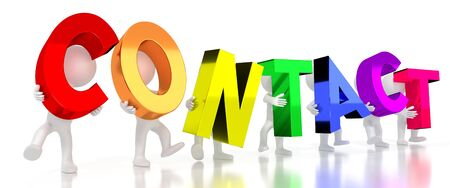 Contact - colorful letters - 3D illustration Stockfoto
