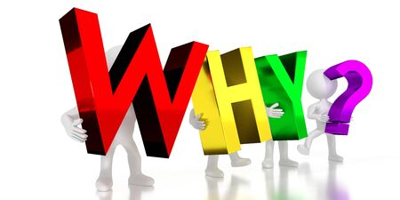 Why? - colorful letters - 3D illustration