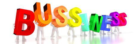 Business - colorful letters - 3D illustration