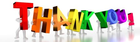 Thank you! - colorful letters - 3D illustration