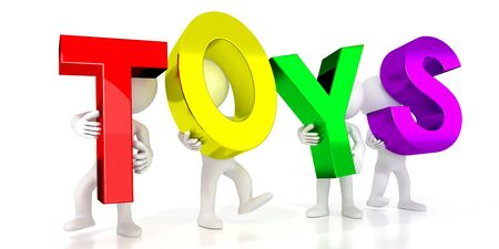 Toys - colorful letters - 3D illustration Фото со стока