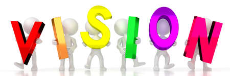 Vision - colorful letters - 3D illustration