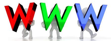 Www - colorful letters - 3D illustration