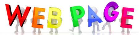 Web page - colorful letters - 3D illustration