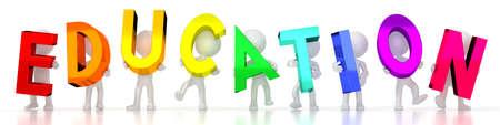 Education - colorful letters - 3D illustration
