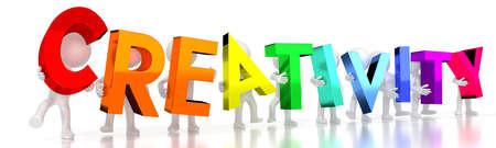 Creativity - colorful letters - 3D illustration Imagens