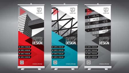 Roll-up template, design (85x200 cm) - modern office buildings