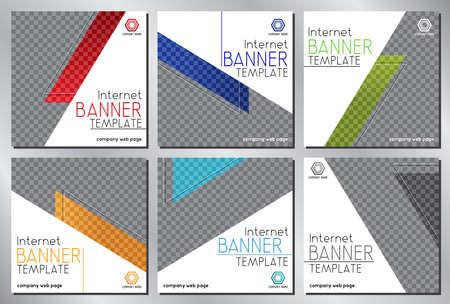 Social media, Internet banner template - vector illustration Vectores