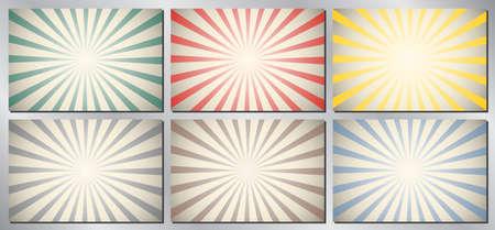 Retro, vintage vector background - sunburst Vectores