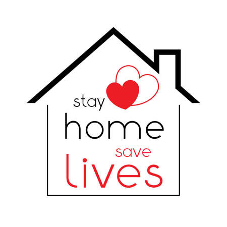 Stay home - Covid-19, SARS-CoV-2 virus - vector illustration