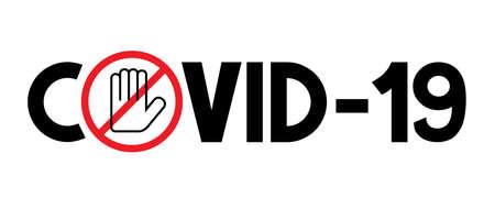 Covid-19, SARS-CoV-2 virus typographical concept - vector illustration